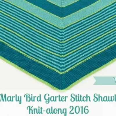 Marly Bird Garter Stitch Shawl Knit-along Section 2