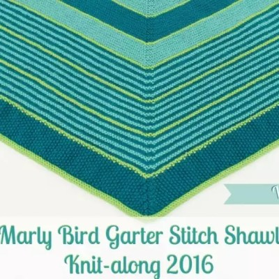 Marly Bird Garter Stitch Shawl Knit-along Section 2