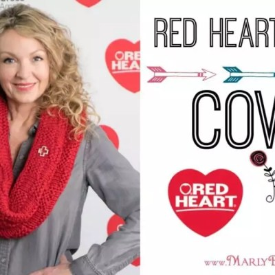 Red Heart Cares Knit Cowl Pattern