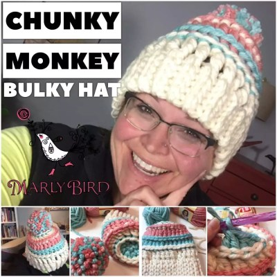 Free Bulky Crochet Messy Bun Hat