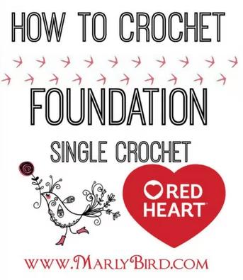 Marly Bird teaches how to crochet foundation single crochet