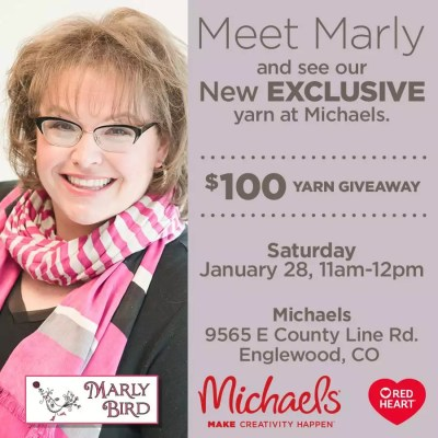 New Red Heart Yarn Exclusive with Michaels and Marly Bird