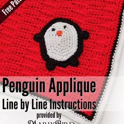 Playful Penguin Blanket Applique Pattern