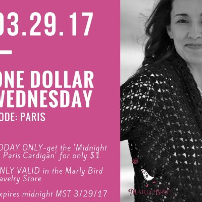 Midnight in Paris Cardigan $1 Wednesday