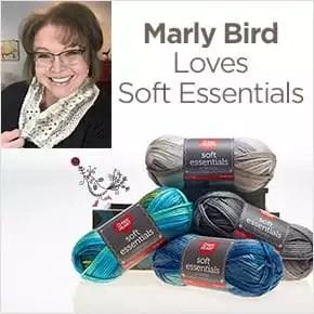 Marly Bird Loves Red Heart Soft Essentials Yarn
