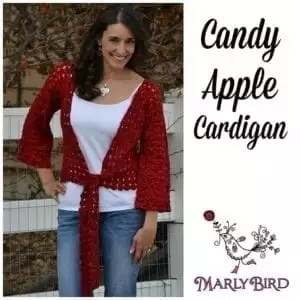 Candy Apple Cardigan by Marly Bird