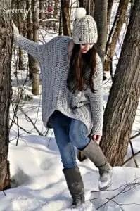 Red Heart Soft Essentials Patterns- Danielle Sweater