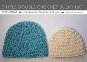 Red Heart Soft Essentials Patterns- Simple Double Crochet Bulky Hat
