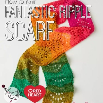 How to Knit Fantastic Ripple Scarf Easy Lace