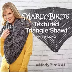 2017 Textured Triangle Shawl Knit-Along with Marly Bird and Red Heart Yarns