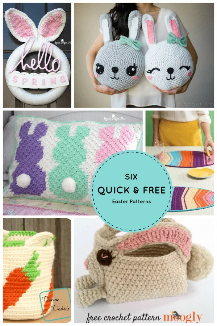6 Quick & Free Crochet Easter Patterns