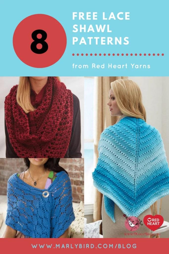 Free Knit Lace Shawl Patterns Marly Bird