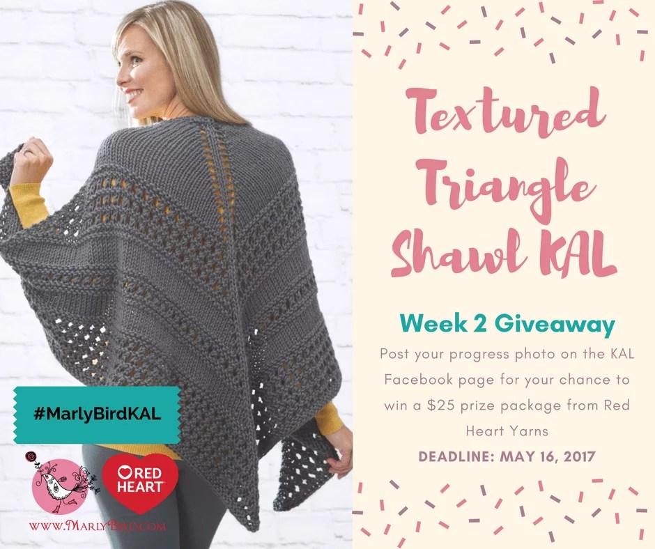 Week 2 Giveaway-Textured Triangle Shawl KAL