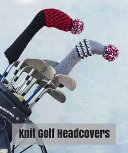 Red Heart Knit Father's Day Pattern-Knit Golf Headcovers