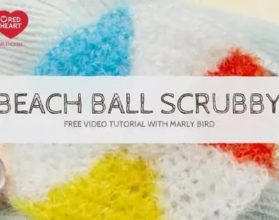 How to Crochet Beach Ball Crochet Pattern Scrubby