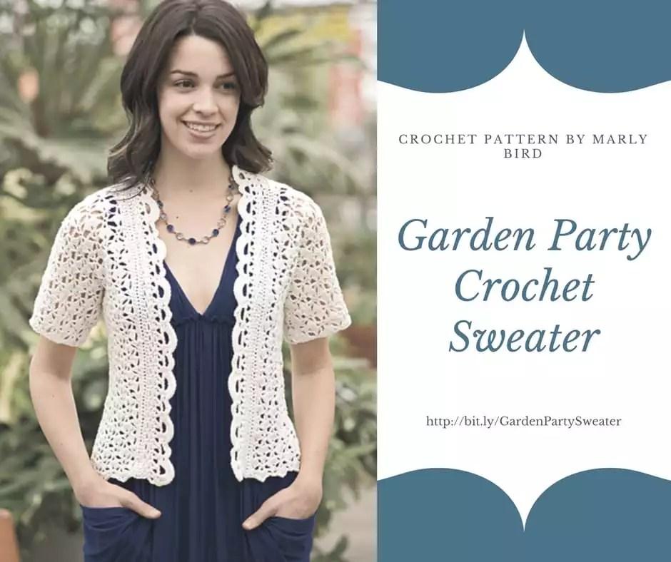 Garden Party Crochet Sweater Pattern By Marly Bird Marly Bird