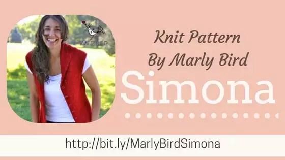 Simona Knit Vest Pattern By Marly Bird