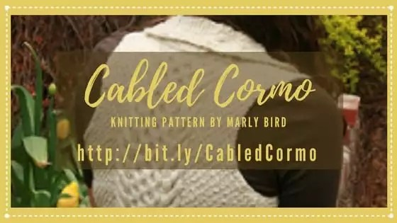 Cabled Cormo Knit Pattern by Marly Bird