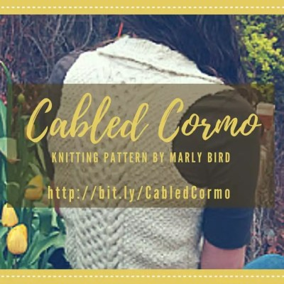 Cabled Cormo Knit Vest by Marly Bird
