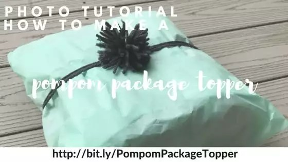 Photo Tutorial how to make a pompom package topper