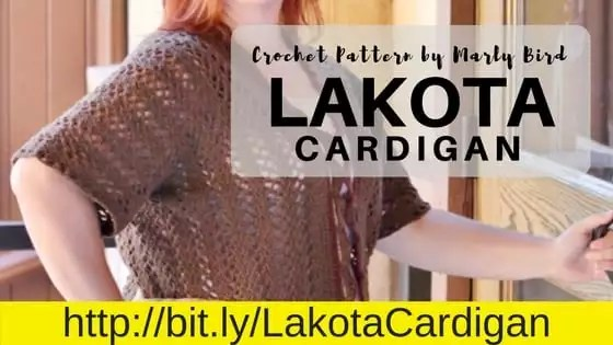 Lakota Crochet Cardigan-Crochet pattern by Marly Bird