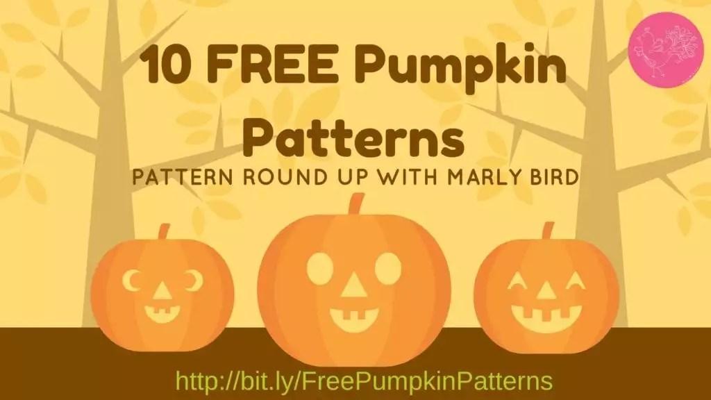 10 FREE Pumpkin patterns in Knit and Crochet