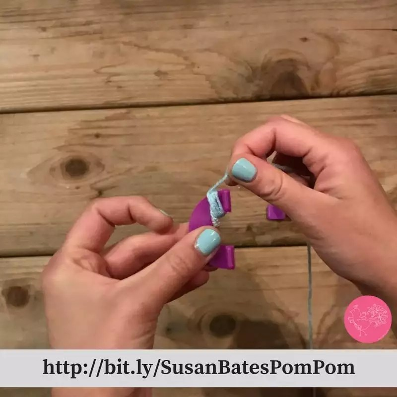 Photo Tutorial How to Making Pom Poms with the Susan Bates Pom Pom Maker