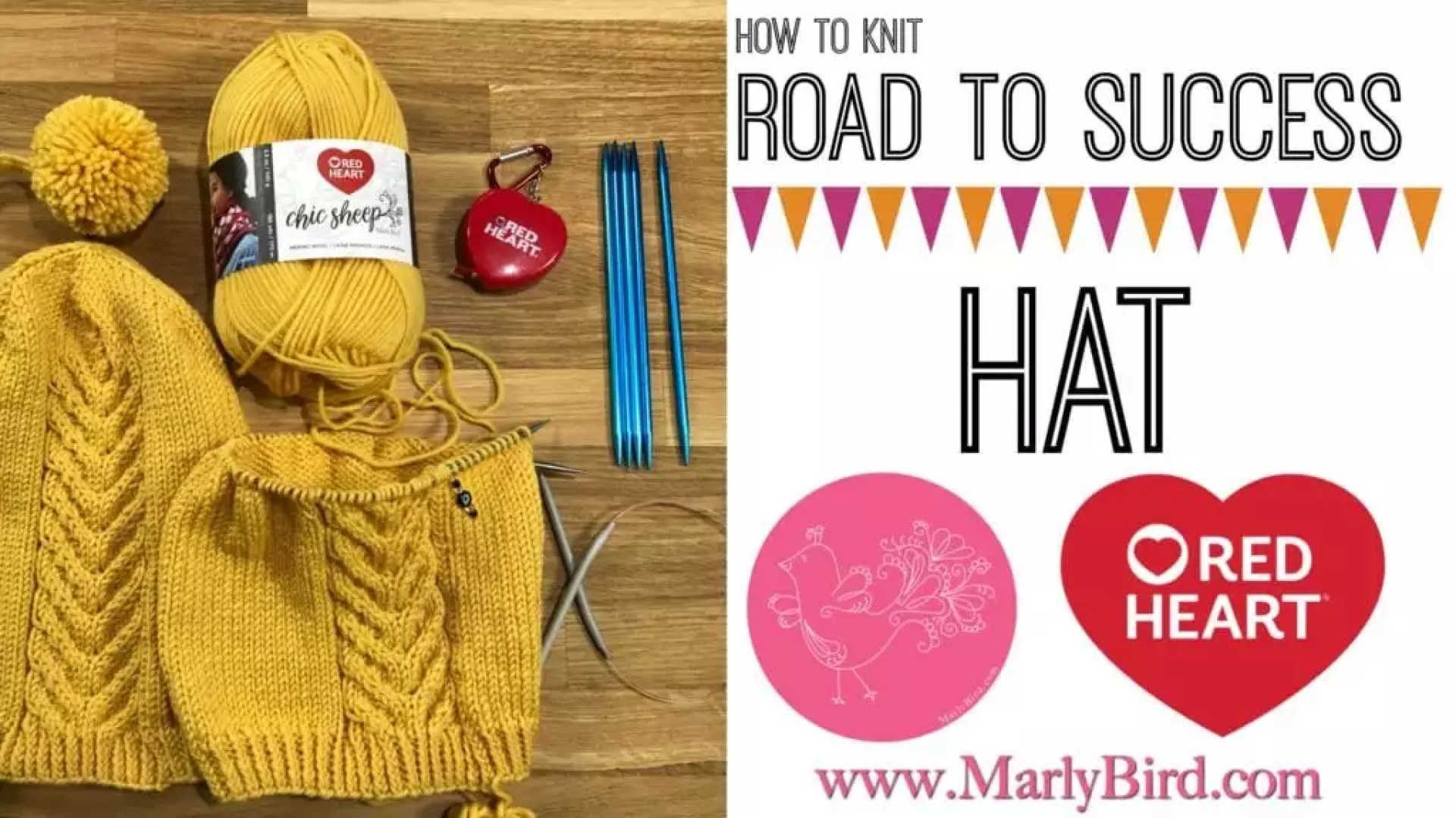 Video Tutorial How to knit the Road to Success Chic Hat with Marly Bird