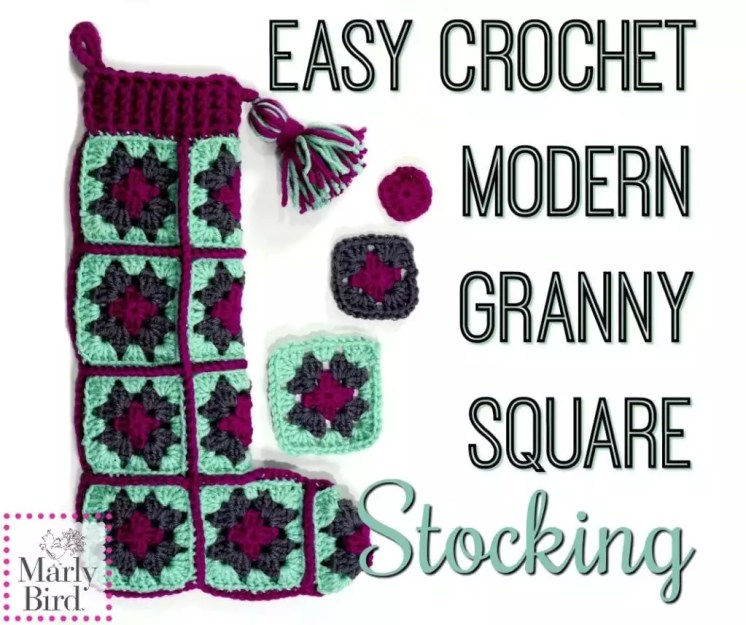 Free Crochet Pattern Quick Holiday Mini Stocking Marly Bird