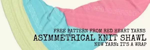 Red Heart FREE Pattern-Asymmetrical Knit Shawl