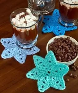 Crochet Star Coasters FREE Pattern