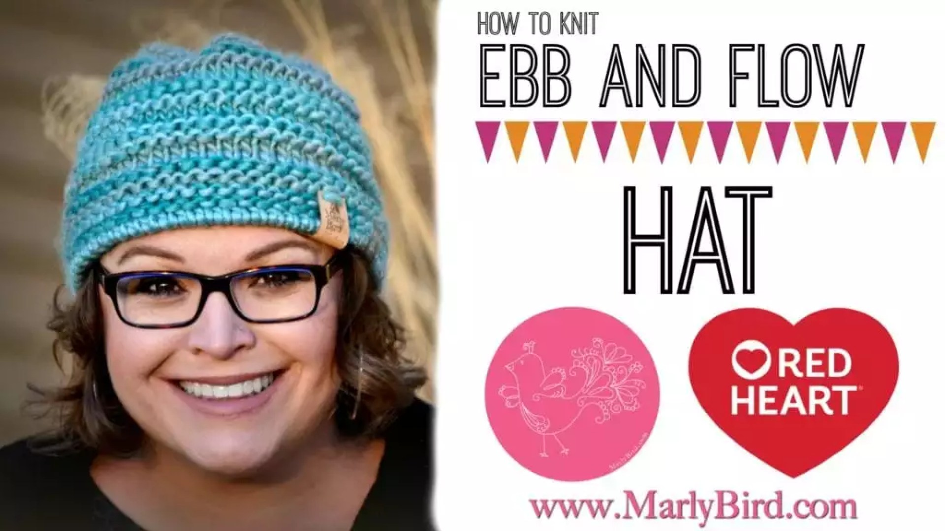 Ebb and Flow Chunky Knit Hat Pattern and Video Tutorial by Marly Bird