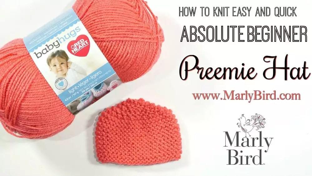Free Beginner Preemie Knit Hat pattern