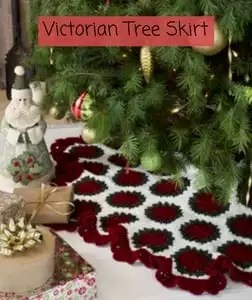 Free Crochet Christmas Tree Skirt Pattern-Victorian Tree Skirt