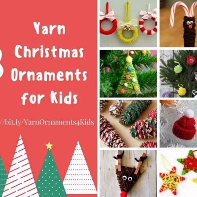 Yarn Christmas Ornaments for Kids