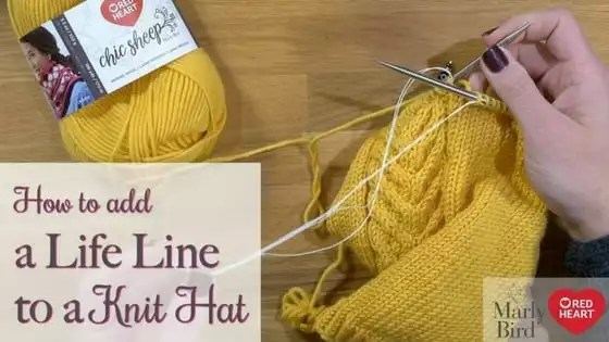 Video Tutorial with Marly Bird How to add a life line to your knitting