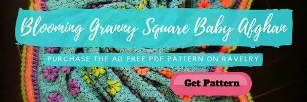 Ad Free PDF Blooming Granny Square Baby Afghan Pattern by Marly Bird