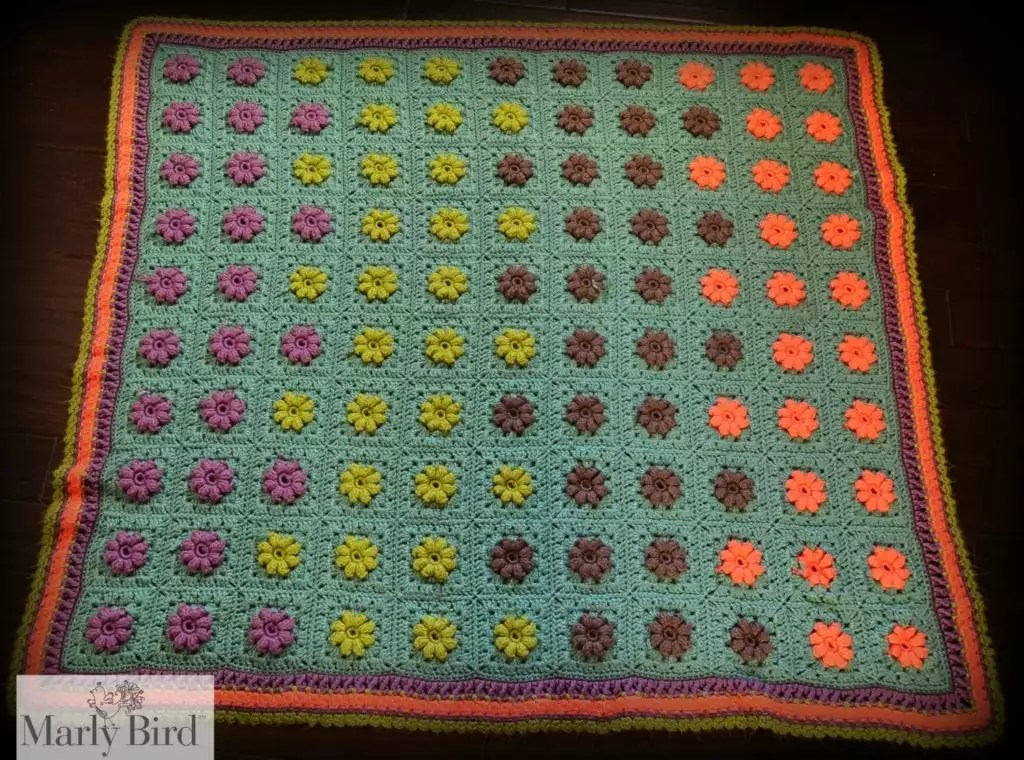 Blooming Granny Square Baby Afghan by Marly Bird [Free Pattern]