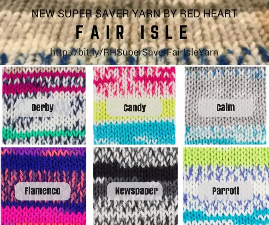Faux Fair Isle Yarn New Yarn From Red Heart In Our Weekly Wednesday
