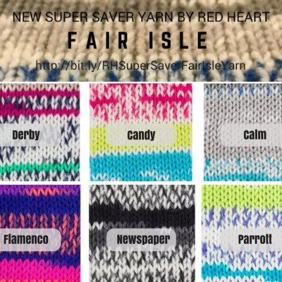Faux Fair Isle Yarn, NEW Yarn from Red Heart in our Weekly Wednesday Review