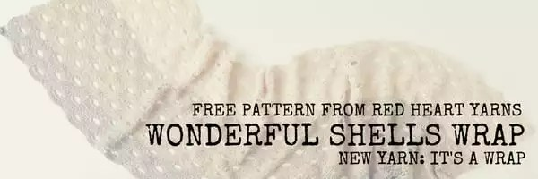 Red Heart FREE Pattern Wonderful Shells Wrap