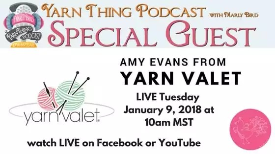 Yarn Thing Podcast with Marly Bird and special guest Yarn Valet