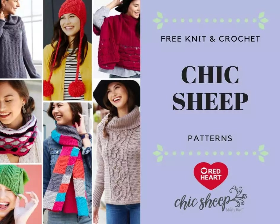 FREE Knit and Crochet Chic Sheep Patterns from Red Heart