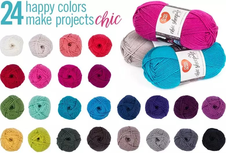 Chic Sheep by Marly Bird™ yarn in all 24 colors.