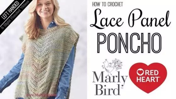 Crochet Video Tutorial with Marly Bird-How to Crochet the Lace Panel Poncho