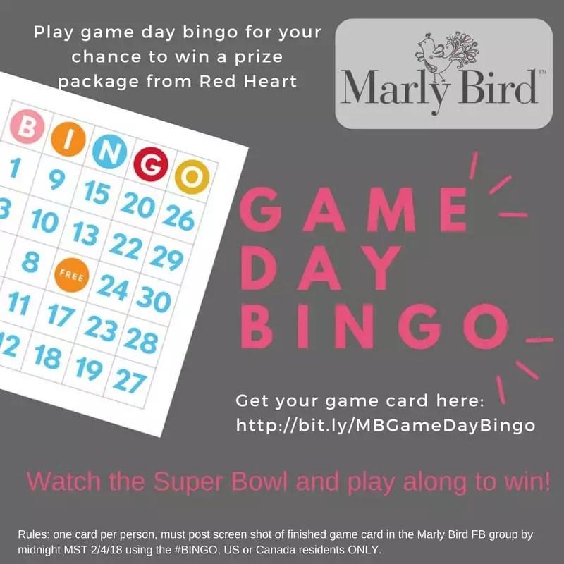 Marly Bird Game Day Bingo