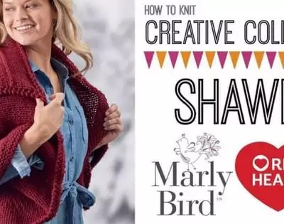 Knit Video Tutorial with Marly Bird-How to Knit Creative Collar Shawl