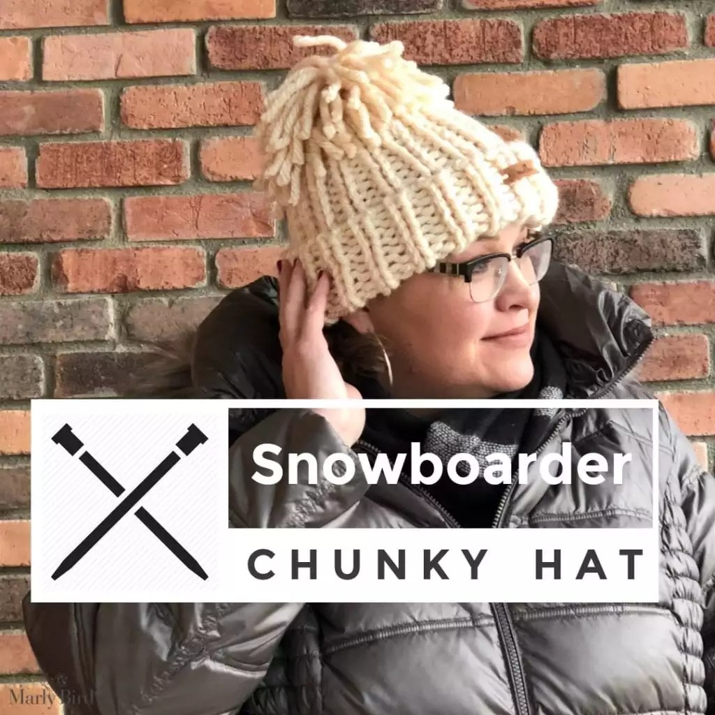 Snowboarder Chunky Hat Marly Bird