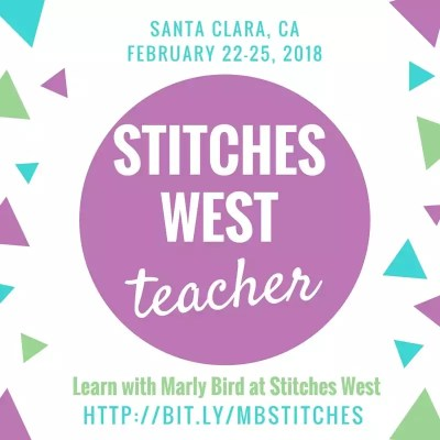 Learn with Marly Bird at Stitches West