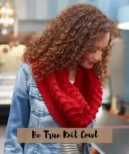 FREE Pattern Be True Knit cowl